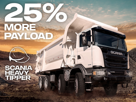 United Tractors Launches Scania Heavy Tipper