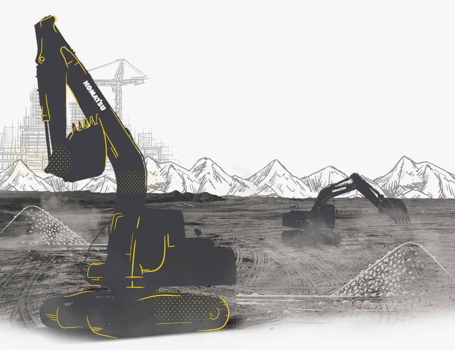 Komatsu Excavator Konstruksi