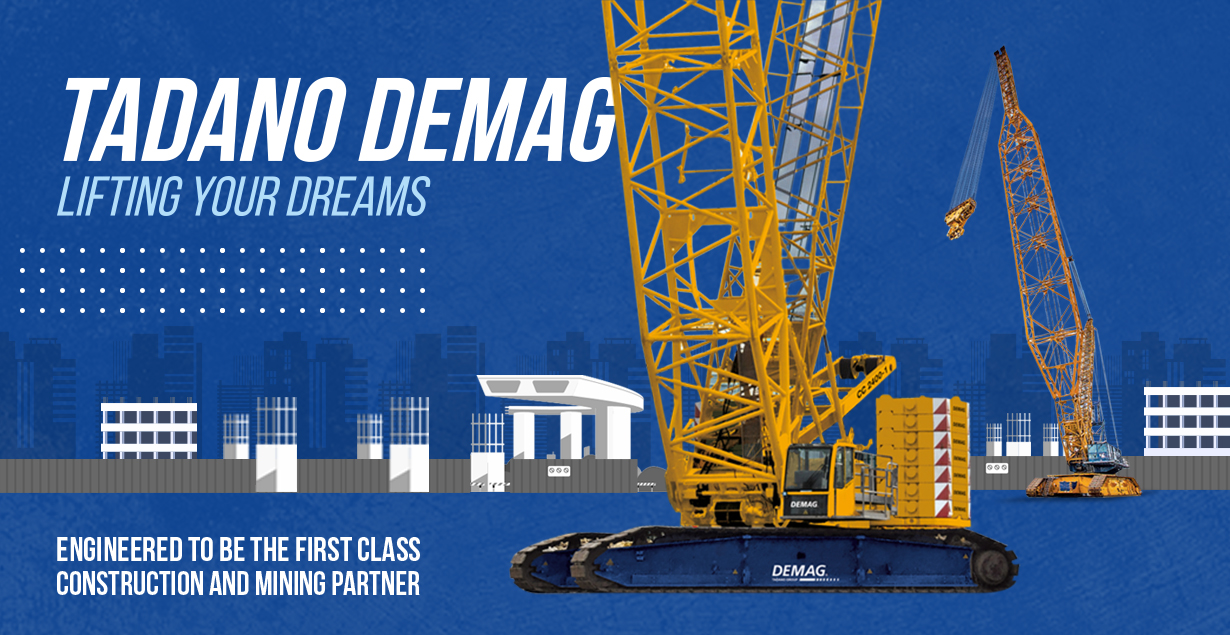 Get to know the Superiority of Lattice Boom Crawler Crane from Tadano Demag