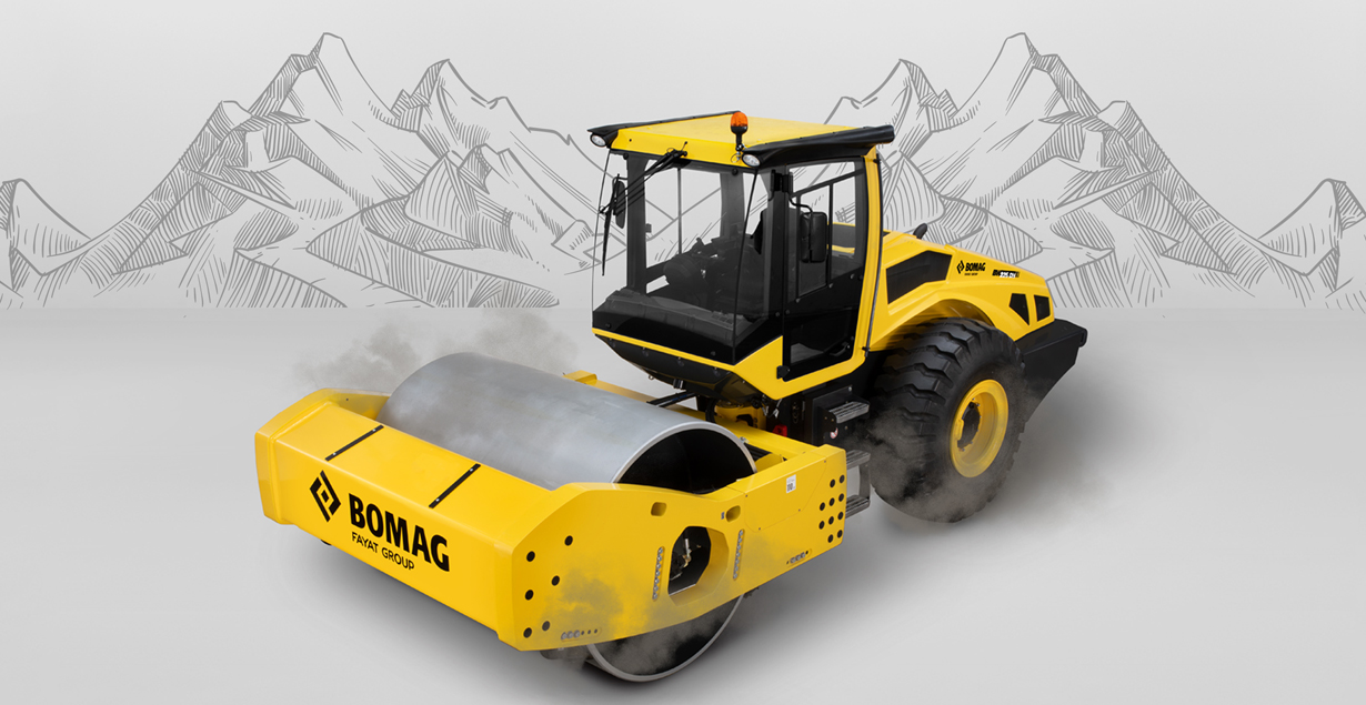 Bomag Single Drum Roller: Effective and Efficient for Mine Road Construction